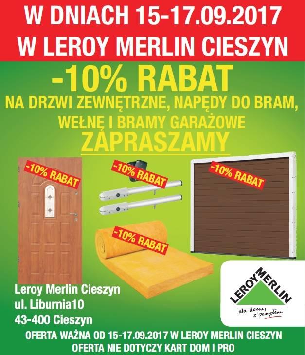 10 Rabatu W Leroy Merlin W Cieszynie